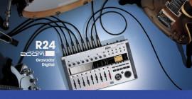 Gravando em 24 canais com o gravador digital Zoom R24