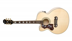 Epiphone EJ-200 SCE Gold Lefty Natural
