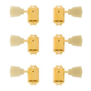 Gibson Tarraxa Dourada para Guitarra 3+3 com Botões Perolizados PMMH020