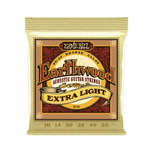 Ernie Ball Corda – (.010/.050) – Earthwood 80/20 Extra-Light – 2006