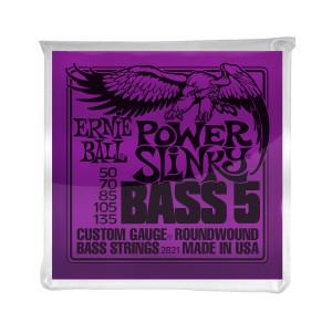Ernie Ball Corda – (.050/.135) – 5-String Power Slinky – 2821