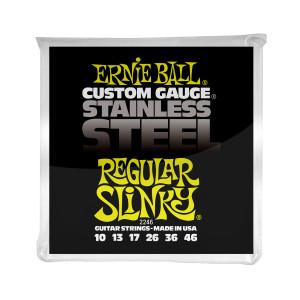 Ernie Ball Corda – (.010/.046) – Stainless Steel Regular Slinky – 2246