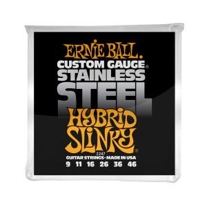 Ernie Ball Corda – (.009/.046) – Stainless Steel Hybrid Slinky – 2247