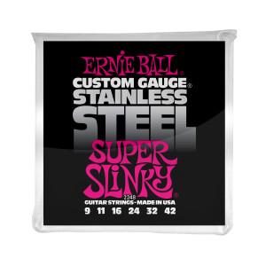 Ernie Ball Corda – (.009/.042) – Stainless Steel Super Slinky – 2248