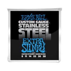Ernie Ball Corda – (.008/.038) – Stainless Steel Extra Slinky – 2249