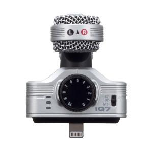 Microfone estéreo para iPhone, iPad e iPad Touch Zoom iQ7 Silver