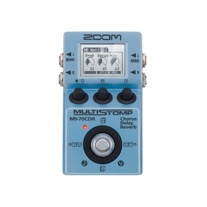 Zoom Pedal para Guitarra Multi-efeitos Stompbox MS-70CDR Chorus / Delay / Reverb