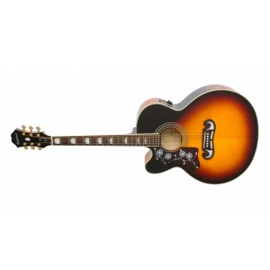Epiphone EJ-200 SCE Gold Lefty Vintage Sunburst