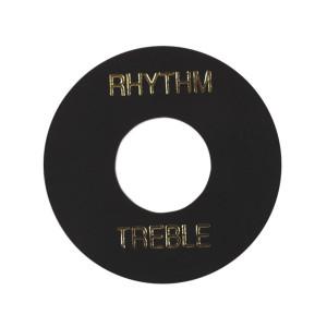Gibson Placa Treble/Rhythm PRWA 010 Preta com print Dourado