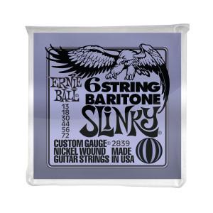 Ernie Ball Corda – (.013/.072) – 6 Strings Baritone Slinky – 2839