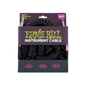 Ernie Ball – Coil Cable P10s-P10s 30 pés (aproximadamente 9,14m) Black – 6044