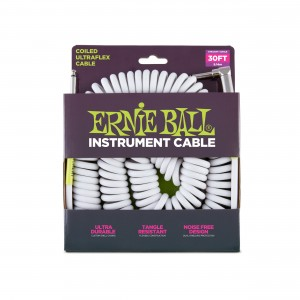 Ernie Ball – Coil Cable P10s-P10s 30 pés (aproximadamente 9,14m) White – 6045