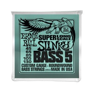Ernie Ball Corda – (.045/.130) – 5-String Super Long Scale Slinky – 2850