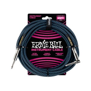 Ernie Ball – Braided Cable P10A-P10S 25 pés (7,62m) Blue – 6060