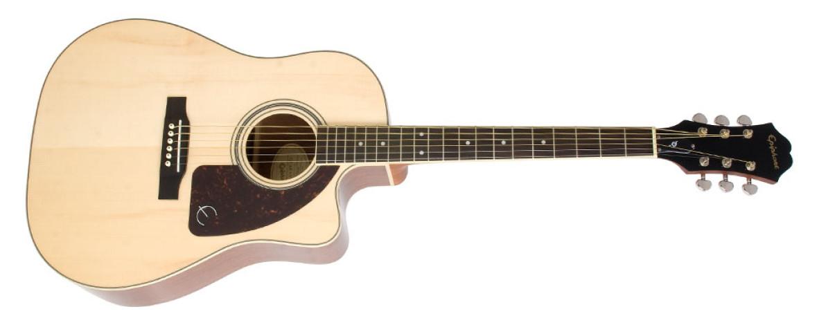 Epiphone limited edition aj 220sce acoustic electric guitar ebony