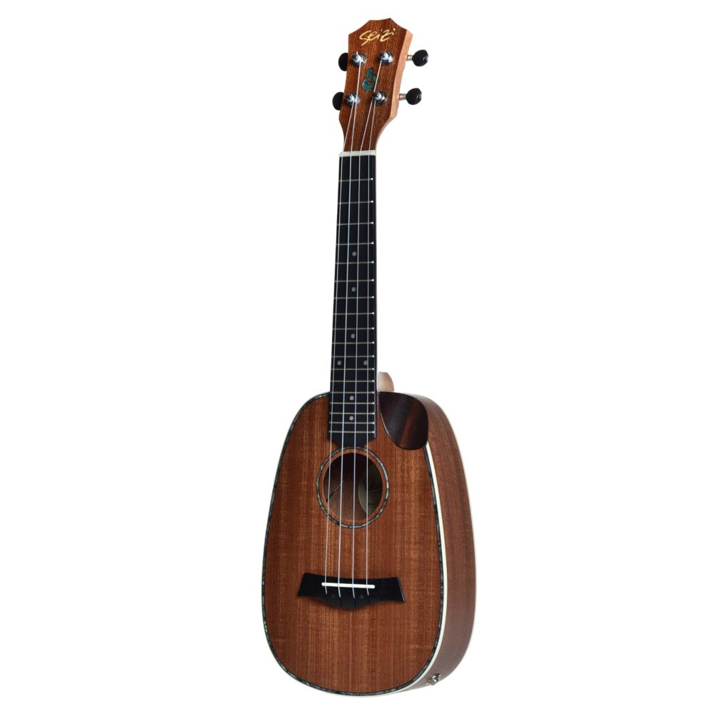 Ukulele Seizi Maui Crush – Pineapple Concert Elétrico Bag Sapele