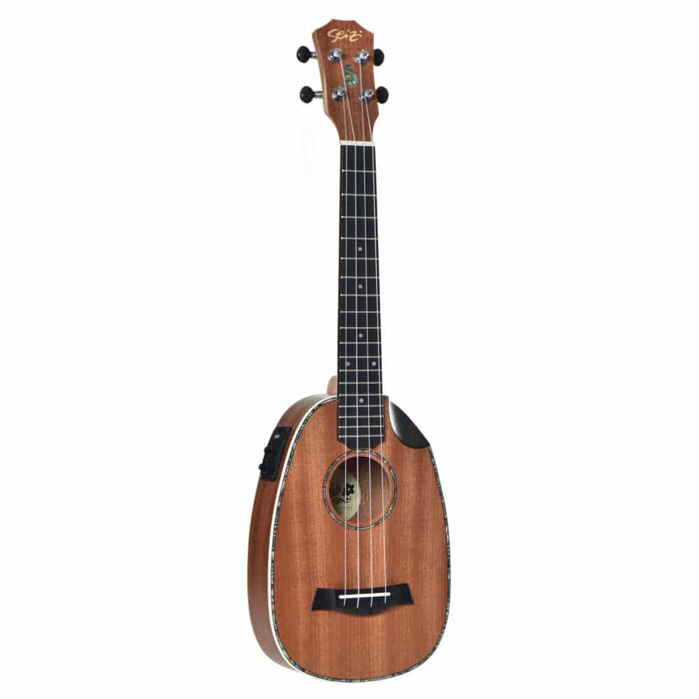 Ukulele Seizi Maui Crush – Pineapple Tenor Elétrico Bag Sapele