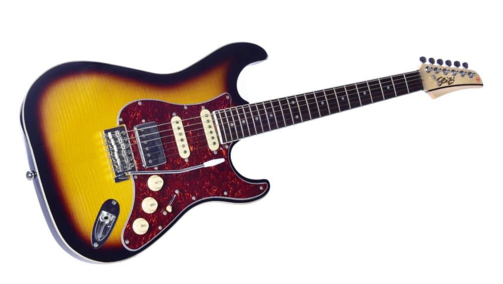 Guitarra Seizi Selection Katana Superstrat Tobacco Burst Ltd