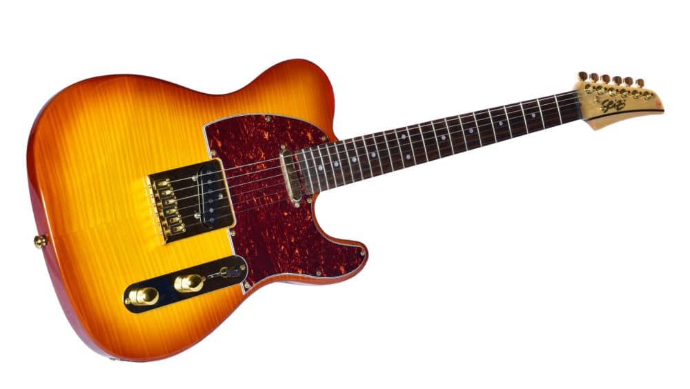 Guitarra Seizi Selection Katana Tele Cherry Sunburst Ltd Ed