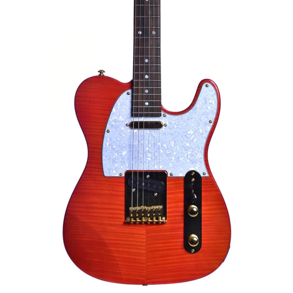 Guitarra Seizi Selection Katana Tele Lava Red Ltd Edition