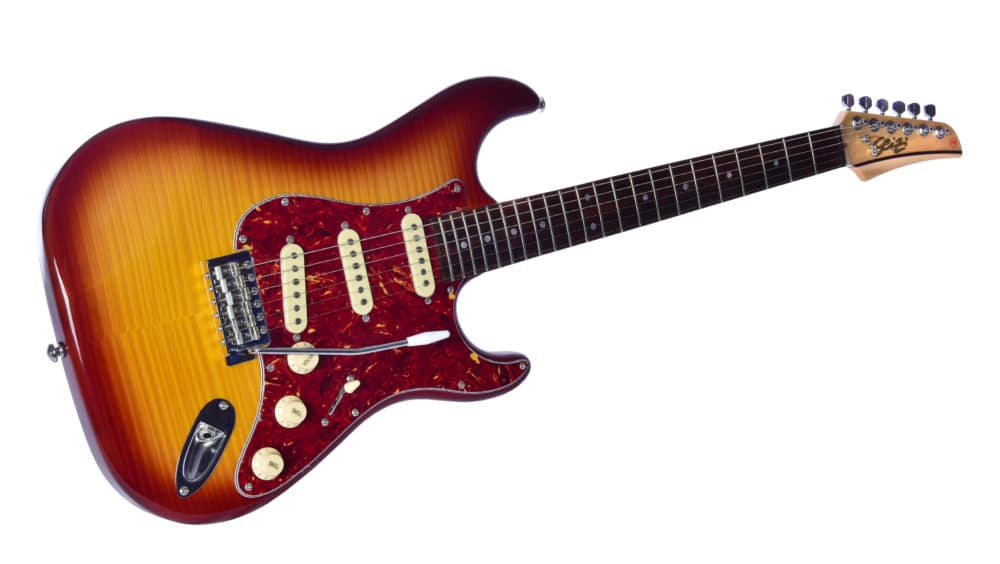 Guitarra Seizi Selection Katana Flame 3s Ltd Edition